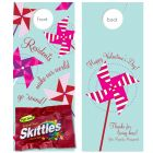 Valentine Treats  with Skittles attached