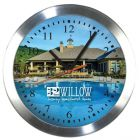 Aluminum & Glass Wall Clock