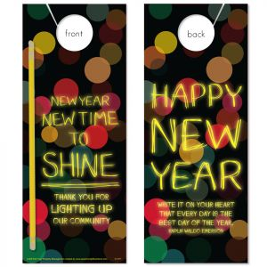 New Year Shine with Glow Stick attached