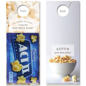 Pop & Renew with Microwave Popcorn attached
