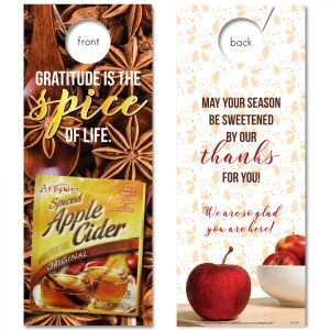 Sweet Gratitude with Spiced Apple Cider attached