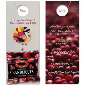 Thanksgiving Pairings with Dried Cranberries attached
