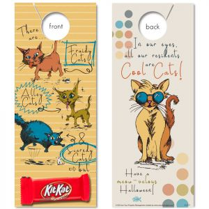 NEW! Cool Cat Residents (Halloween) with Kit Kat Bar attached