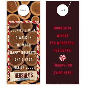 Cookies & Milk (Holiday) with Hersey's Cookies 'n Creme Bar attached