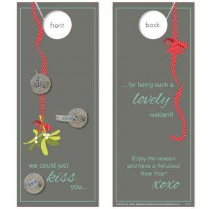 Mistletoe Message with Hershey's Kisses attached