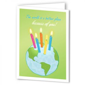 Birthday-World Card with Imprinting