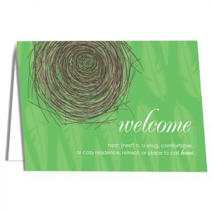 Welcome-Nest Card with Imprinting