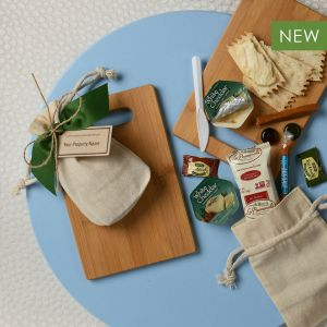 Tasty Morsels with Bamboo Cutting Board