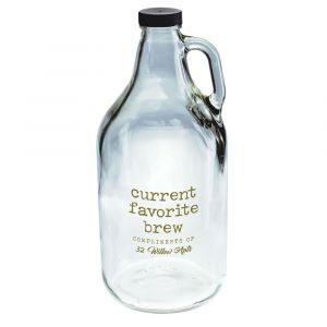 NEW! 64 oz. Clear Glass Growler