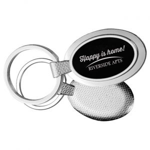 Textured Oval Key Chain