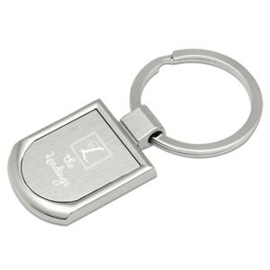 Two Tone Crest Key Chain
