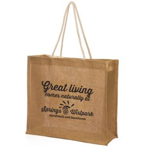 Jute Tote with Rope Handle