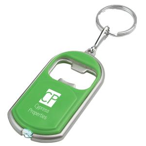 Flashlight Key Chain with Bottle Opener