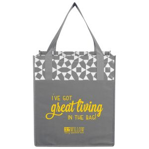NEW! Geometric Laminated Grocery Tote
