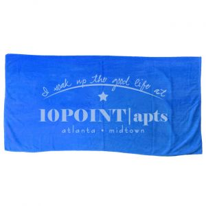 Cotton Velour Beach Towels with Imprint
