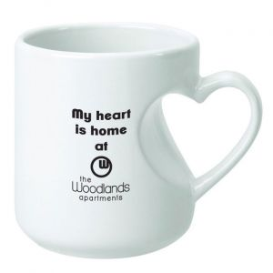 Heart Handle Mug-White