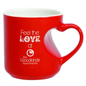 Heart Handled Mug-Red