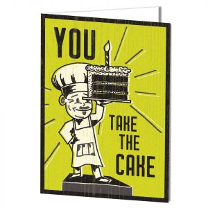 Birthday-Take the Cake Card with Imprinting