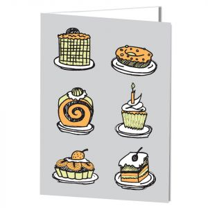 NEW! Birthday-Piece of Cake Card with Imprinting