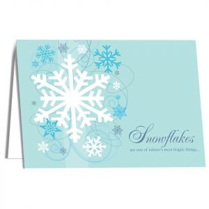 Holiday-Snowflake Card with Imprinting