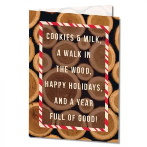 Holiday-Cookies & Milk Card with Imprinting