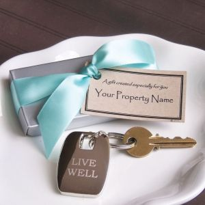 Live Well Key Chain in Silver Box