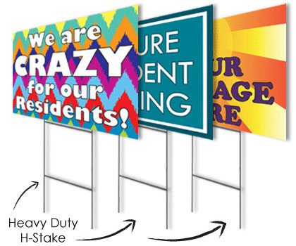 Heavy Duty H-Stakes for Landscape Signs image