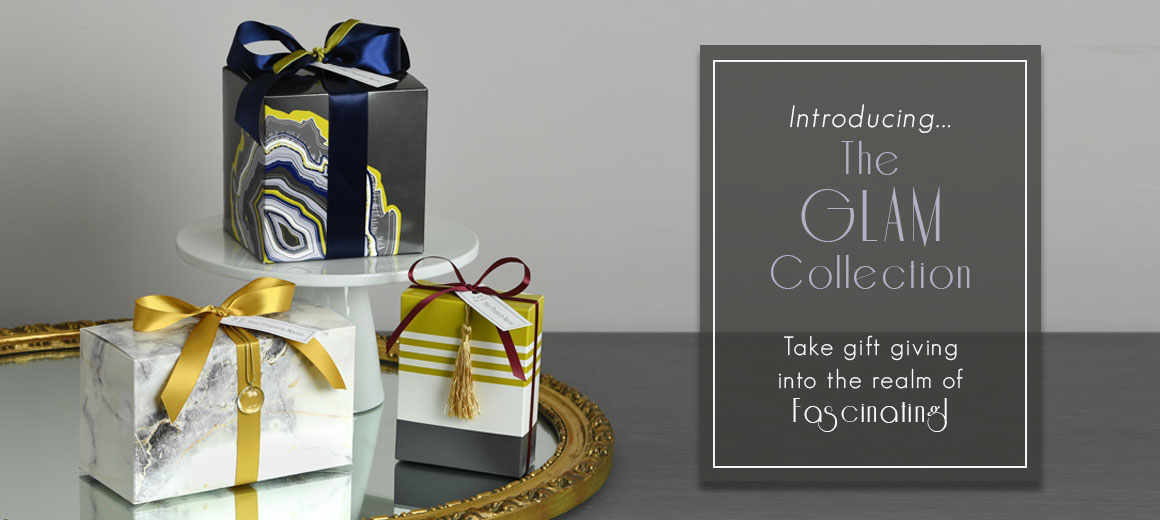The Glam Collection - Apartment Gifts with accents of tassels, velvet, crystal, and natural stone.